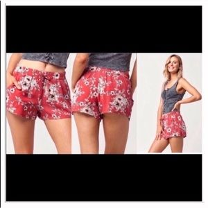 Pants - Floral women's shorts
